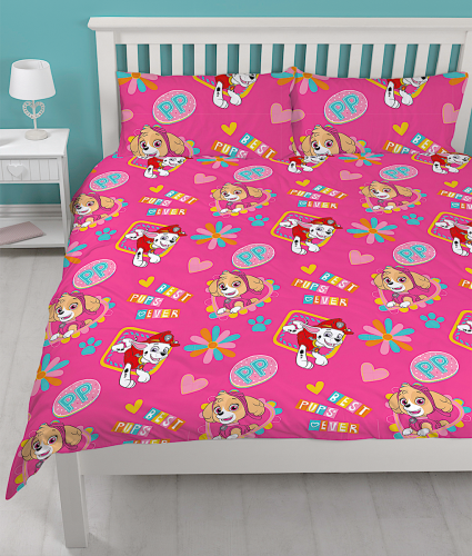 "Official PAW Patrol Forever ""Reversible"" Double Duvet Cover Bedding Set"